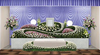 葬儀祭壇例